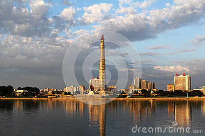 Torre da idéia de Juche Fotografia Editorial