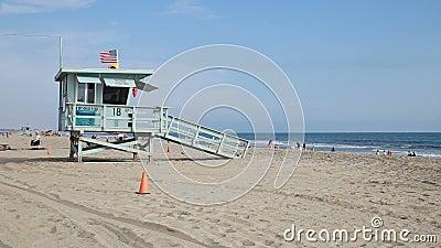 Torre da salva-vidas da praia de Santa Monica