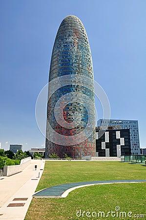 Torre de Agbar. Foto editorial
