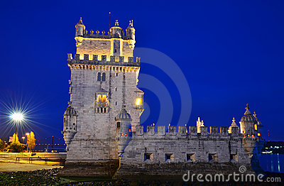 Torre de Belem in Lisbon, Portugal landmark