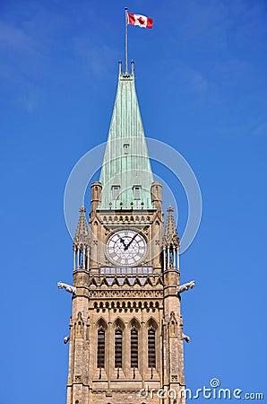 Torre de edifícios do parlamento, Ottawa da paz