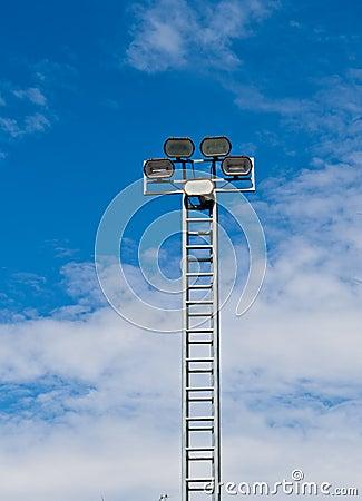 Torre de la luz del proyector o de inundación