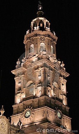 Torre de sino, Morelia, México.