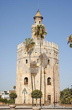 Torre del Oro ou torre do ouro em Sevilha