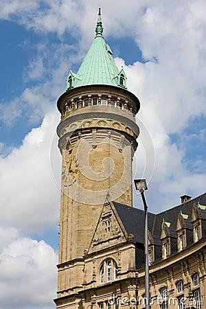 Torre do banco de economias em Luxembourg