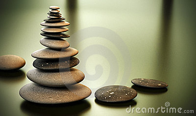 Torre do seixo - pilha dos seixos