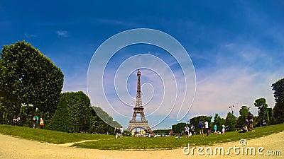 Torre Eiffel, video al rallentatore di Parigi, Francia archivi video