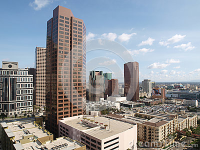 Torres de South Park em Los Angeles do centro Foto de Stock Editorial