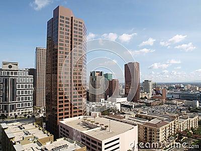 Torres de South Park en Los Ángeles céntrico Foto de archivo editorial