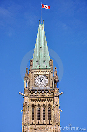Torretta delle costruzioni del Parlamento, Ottawa di pace