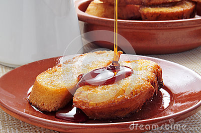 Torrijas, typical spanish dessert for Lent and Easter