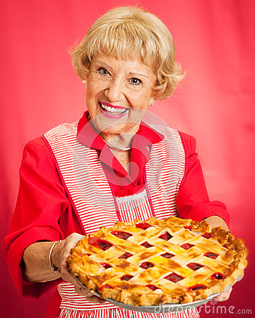 Torta caseiro da cereja das avós