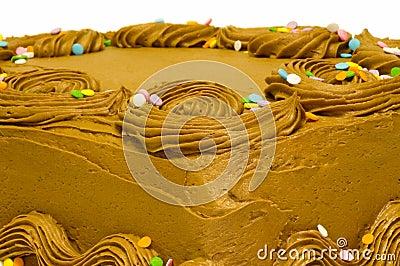 Torta con el chocolate fosting