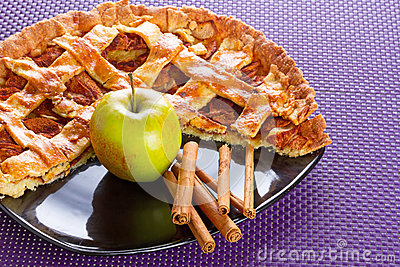 Torta de Apple com canela