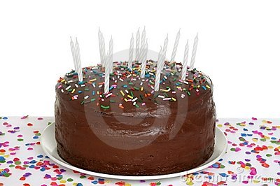 Torta de cumpleaños del chocolate
