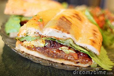 Torta Milanese or Mexican style sandwich