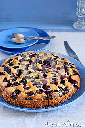 Torta negra de las uvas
