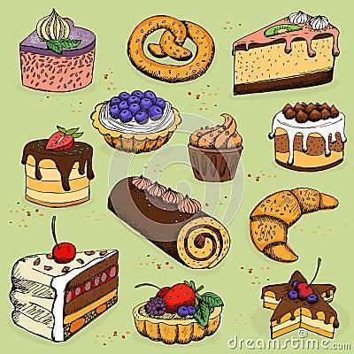 Torte e prodotti della farina per il forno pasticceria - Forno ventilato per torte ...