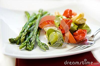 Tortellini and Asparagus