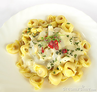 Free Tortellini Italian Stuffed Pasta Royalty Free Stock Images - 10418809