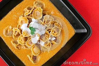 Tortellini with Pork Ragù in Milk & Carrots