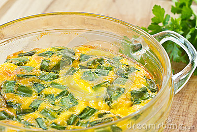 Tortilla de huevos cocida al horno