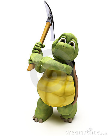 Tortoise with pick axe