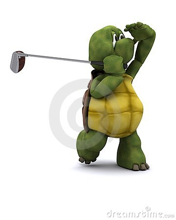 Tortoise Playing golf