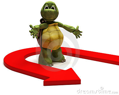 Tortoise with u turn arrow