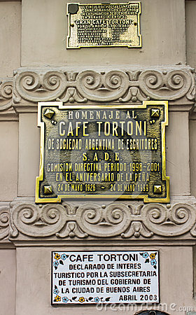 Tortoni Cafe Buenos Aires Argentina Editorial Stock Photo