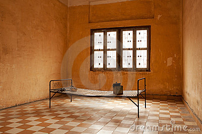 Torture bed in prison cell Editorial Photography