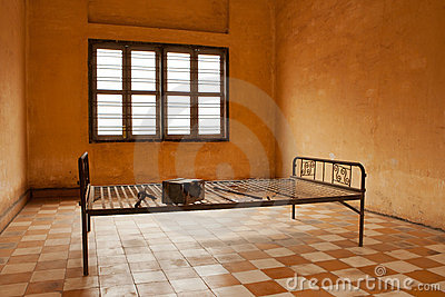 Torture bed in prison cell Editorial Image