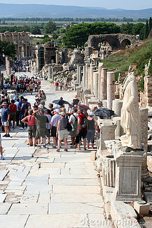Toruists in ephesus- izmir-turkey Editorial Photography