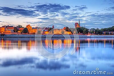 Torun old town at sunset
