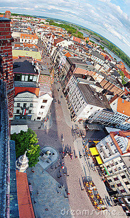Torun panorama, Poland Editorial Image