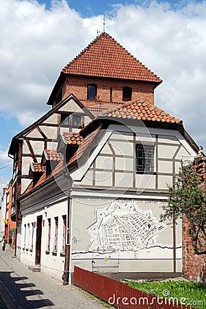 Torun, Poland: City Wall Houses Editorial Image