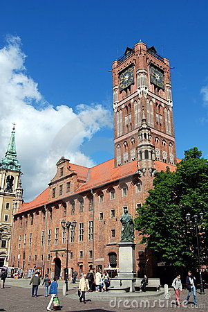 Torun, Poland: Old Town Hall Editorial Photo