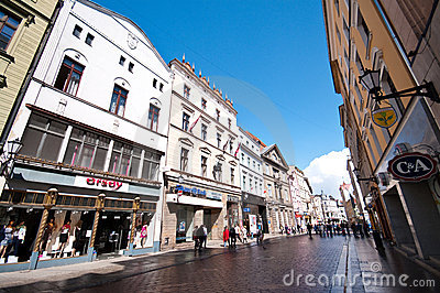 Torun, Poland, old town street Editorial Stock Photo