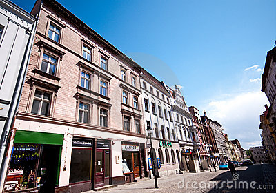 Torun, Poland, old town street Editorial Stock Image