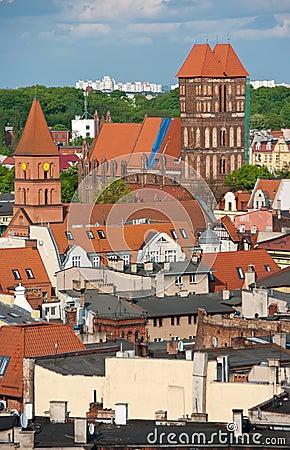Torun, Poland - rooftops