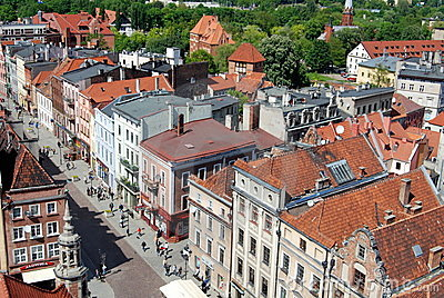 Torun, Poland: View of Baroque Houses Editorial Photo