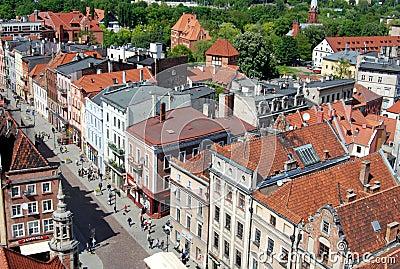 Torun, Poland: View of Baroque Houses Editorial Photo