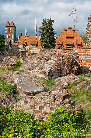 Torun, ruins of castle