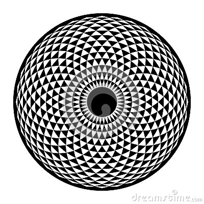 Free Torus Yantra, Hypnotic Eye Sacred Geometry Basic Element Stock Photos - 64830093
