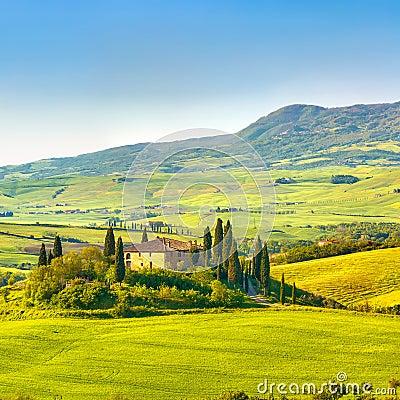 Toscanië bij de lente