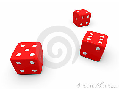 A toss of three red dice