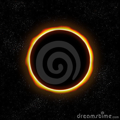 Total eclipse in space