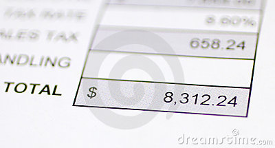 Total money due
