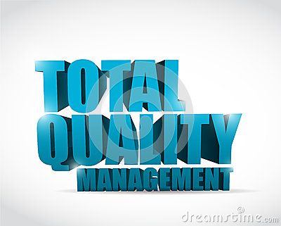 Total quality management text illustration design over a white