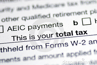 Total tax in the income tax return